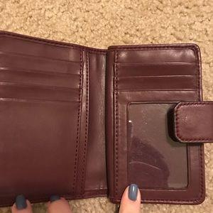 Coach burgundy wallet